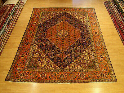 Vintage 8.5 x 11.6 Handmade High Quality Antique 1930 Persian Medallion Wool Rug