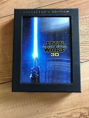 Star Wars: 3D Slip The Force Awakens Blu-ray/DVD Collector's Edition 3 Disc Set