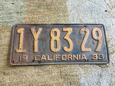 3f 50 02 Dmv Clear Nice! California 1933 License Plate Pair Original Paint