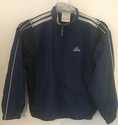Genuine Adidas Tracksuit Top Youth 144Cm Pullover Zipper Jacket