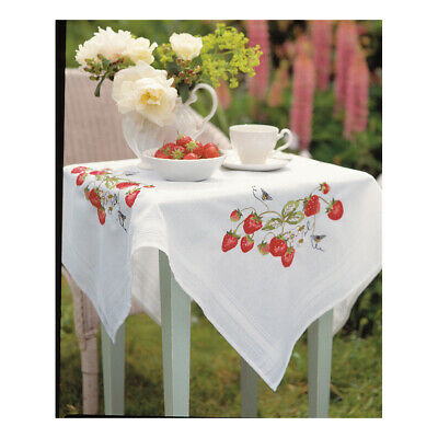 ANCHOR | Embroidery Kit: Strawberries - Tablecloth | ETW16