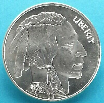 Vintage Liberty Indian Head w/ Buffalo Rev Round 1 oz. .999 Silver Old School**