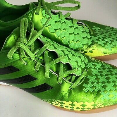on sale a5b62 f2cf6 ADIDAS Men s Predator Absolado Green Yellow Indoor Soccer Shoes Size 10 US