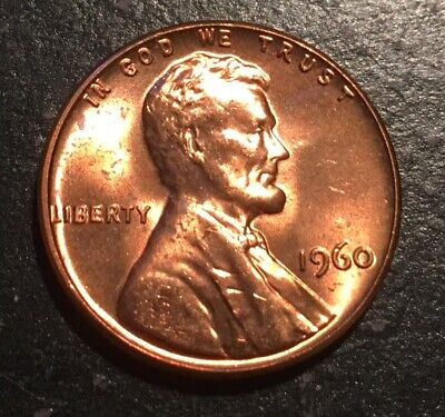1960 Large Date Lincoln Memorial Small Cent Mint State BU Red Penny