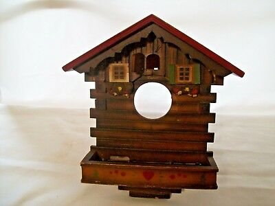 Vintage Kuner Animated Musical Cuckoo Clock Case for Parts or Restoration