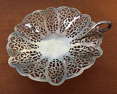 Lovelace Silver Plated Footed Candy Dish Vintage International Silver Co.