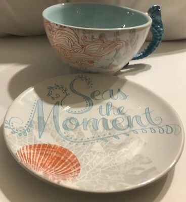Princess Ariel Fairy Tales Seas The Moment  Large  Cup & Saucer By Disney Parks