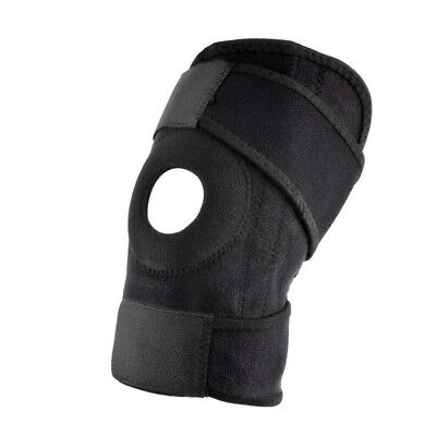 1pc Adjustable Sports Training Elastic Knee Support Brace Kneepad Black