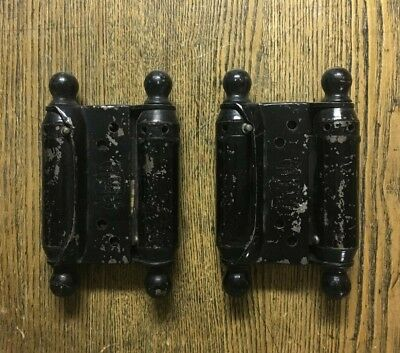 Pair Antique Bommer's Double Action Swinging Door Hinges, Patented 1905
