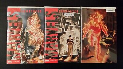 2019 Marvel Comics Set Of 3 Marvels Annotated #1 With Alex Ross Virgin Variant