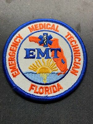 """Florida Paramedic Patch Subdued BLACK 4/"""" W// Hook//Loop FREE SHIPPING"""