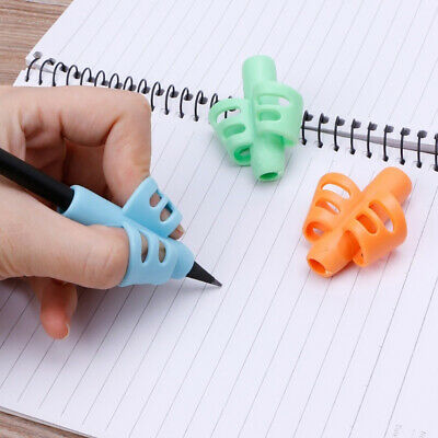 1pc 2-finger Grip Silicone Pen Pencil Holder Kids Baby Help Learn Writing Tool