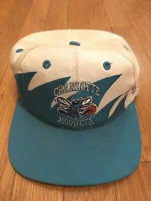 8c7a0618897 CHARLOTTE HORNETS Snapback HAT Mitchell   Ness NBA Basketball CAP Shark  tooth