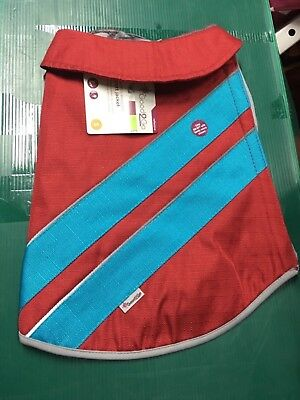 Dog Small Sport Jacket Reflective Water Resistant Red/blue  Good2Go NWT