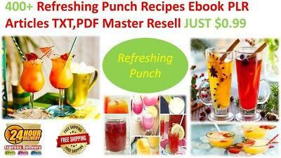 400+Refreshing Punch Recipes Ebook PLR Articles TXT,PDF Master Resell JUST $0.99