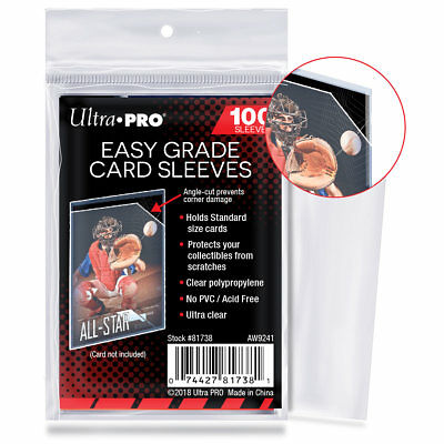 Ultra PRO Easy Grade Soft Card Sleeves Standard Size Protectors 100ct Angle-Cut