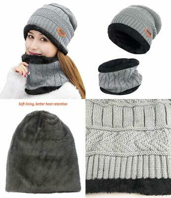 ad50ae8f HINDAWI WOMENS WINTER Hat Girls Warm Outdoor Wool Knit Crochet Snow ...