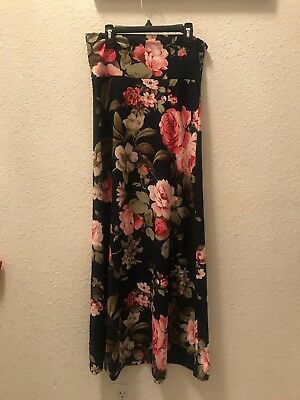 1a523156cc792 Honey and Lace Piphany New Women's Julian Maxi Skirt Dress Size S Floral