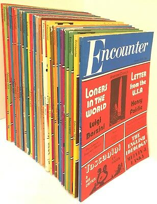 Vintage Encounter Magazine Job Lot x 24 Issues 1972 1973 Lasky Enright Thwaite