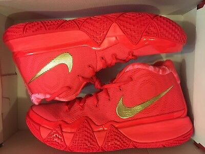 12a5d1f685e4 New Nike Kyrie 4 Red Carpet 2018 Irving Basketball Shoe 943806-602 Men Size  9