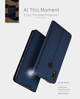 For Huawei Y6 (2019) Luxury Magnetic Flip Leather Wallet Card Stand Cover Case