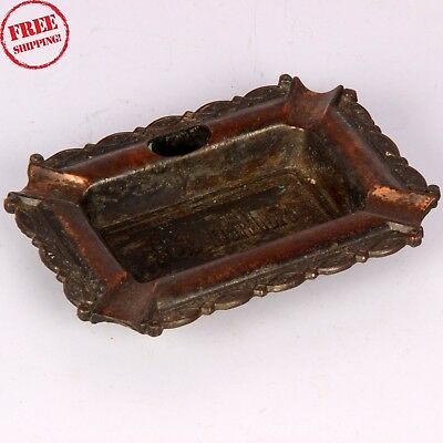 Old Copper Brass Hand Crafted Marl Bore Cigarette Ash Tray London Collection 464