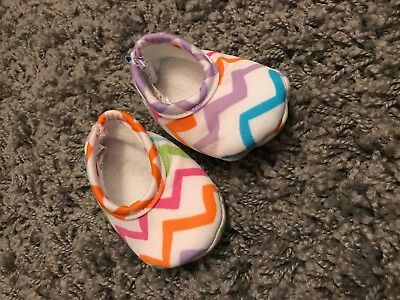 Baby Girl Toddler Chevron Snoozies Shoes 3-6 Months