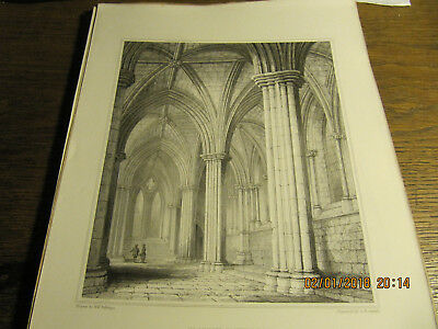 Planche Glasgow Cathedral - The Lady Chapel BILLINGS 19e