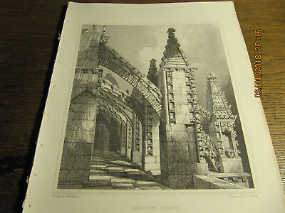 Planche  Roselyn Chapel - Flying Buttressy and Pinnacles North BILLINGS 19e