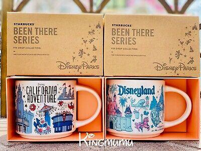 Starbucks Disneyland Disney California Adventure BEEN THERE Attraction Mug Set