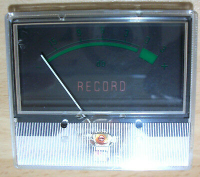 USED EX CASSETTE RECORDER RECORDING LEVEL METER 50mm x 40mm x 15mm DEEP