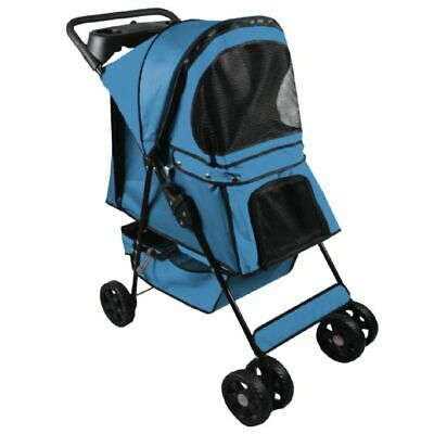 Pet Stroller Dog Cat Walk Travel Holiday Vets Transport Lightweight Stylish