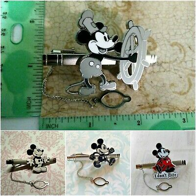9923d7e21a06 Z99 Disney Mickey Mouse Steamboat Willie Retro Vampire Walking Gift Tie  Clip Bar