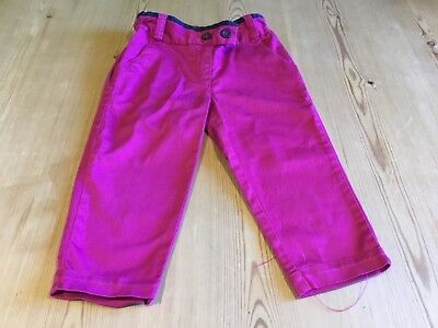 Girls Next Cropped Cerise Pink Trousers Age 5 Years