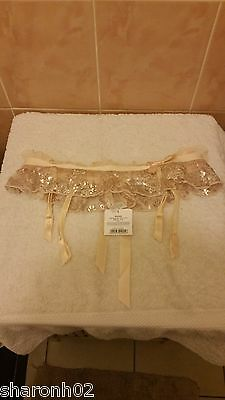 Ann Summers Anastasia Thong Cream With Silver Shimmer Size 10 NWOT