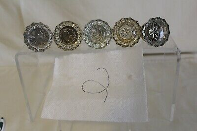 Lot Of 5 Gorgeous Glass Door Knobs Early Hardware Architectural & Garden