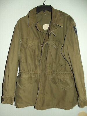 Original WWII M-1943 Combat Field Jacket US ARMY Military 79th Inf Dv Size 38R