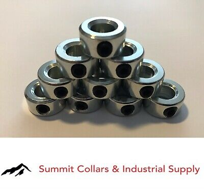 "1-1/8"" bore (10 PCS) set shaft collar, zinc plated FREE standard shipping!"