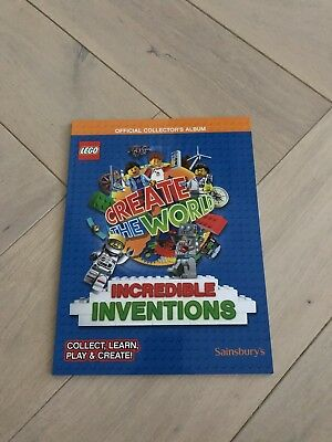 Sainsburys Lego Album Incredible Inventions Album Official Collectors Book 2018