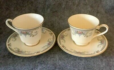 2 x Royal Doulton 'Juliet' Romance Tea Cups And Saucers. Duo H5077