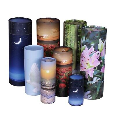 Scatter Tube Ashes Urn , Adult Child Scattering Cremation Eco Biodegradable urn