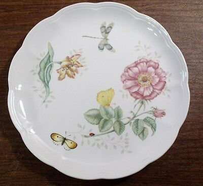 """2 Lenox BUTTERFLY MEADOW 10-7/8"""" Dragonfly Dinner Plates"""