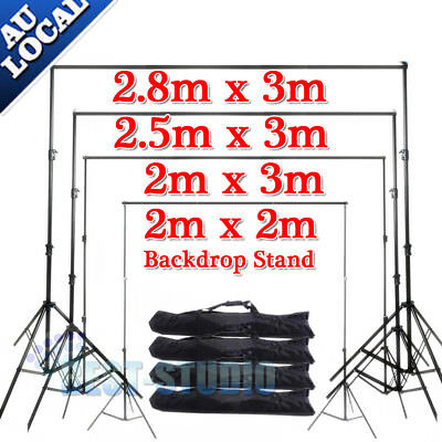 Photo Studio Heavy Duty Backdrop Screen Background Support Stand Kit Carry Bag