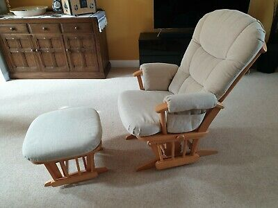 Dutalier nursing / maternity reclining rocking glider chair and stool.