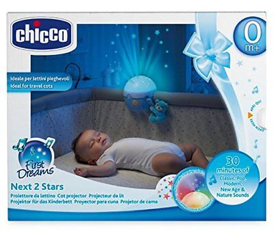 Chicco Next 2 Stars Projecter Baby Night Light/soothing Music - Blue - New
