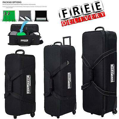 Photography Photo Bag Equipment Studio Padded Wheeled Camera Lighting Carry Case