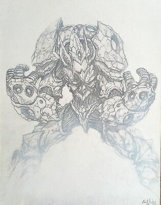 Vor The Maelstrom Sci-Fi Hand Drawn Original Art Clint Langley