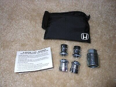 Honda wheel lock set for accord civic fit crz insight crv with pouch and ID card