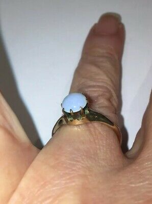 Wonderful Vintage Antique Gold Filled Ring With Stone Size 9