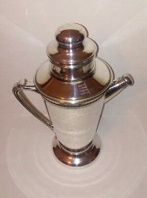 Forbes Silver Company Art Deco Silver Plated 14 Recipes Cocktail Shaker USA, 193